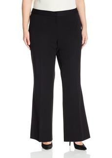 Vince Camuto Women's Plus Size Zip Front Flare Pants