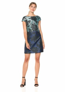 VINCE CAMUTO Women's Printed Cap Sleeve Shift Dress