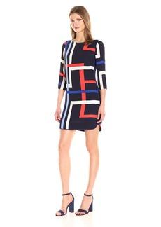 Vince Camuto Women's Printed Chiffon Shift Dress