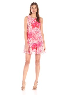 Vince Camuto Women's Printed Chiffon Shift Dress