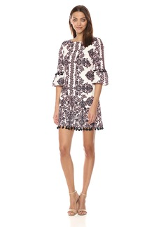Vince Camuto Women's Printed Cotton Tassel Dress