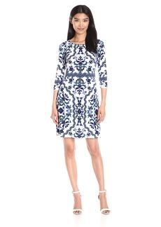 Vince Camuto Women's Printed Crepe Tee Body Dress