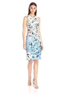 Vince Camuto Women's Printed Scuba Bodycon Dress