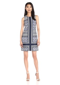 VINCE CAMUTO Women's Printed Shift Dress