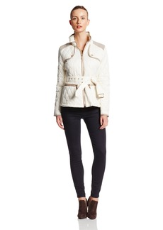 Vince Camuto Women's Quilted Barn Jacket with Contrast Trim