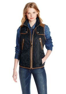 Vince Camuto Women's Quilted Vest with Suede Trim