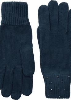Vince Camuto Women's Rhinestone Rib Glove blue wing teal