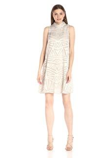 Vince Camuto Women's Roll Collar Float Dress