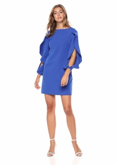 VINCE CAMUTO Women's Ruffle Sleeve Shift Dress