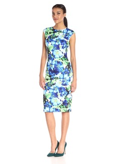Vince Camuto Women's Scuba Body Con Dress