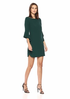 Vince Camuto Women's Scuba Circle Sleeve Shift Dress