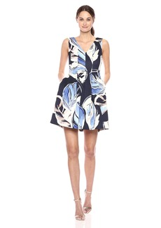 Vince Camuto Women's Scuba Fit and Flare Dress