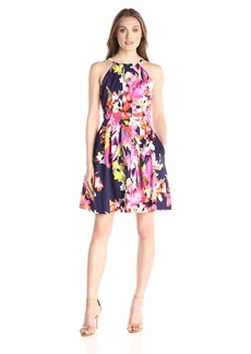 Vince Camuto Women's Scuba Halter Dress