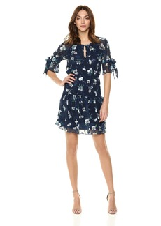 Vince Camuto Women's Shirred Fit and Flare Dress