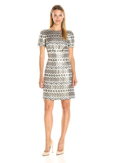 Vince Camuto Women's Short Sleeve a-Line Dress