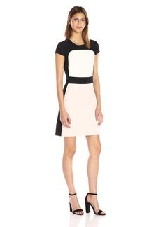 Vince Camuto Women's Short Sleeve Colorblock Shift Dress