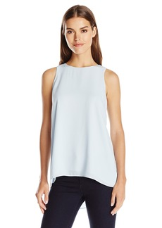 Vince Camuto Women's Short Sleeve High Low Hem Blouse