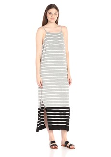 Vince Camuto Women's Short Sleeve Magnet Stripe Dress W/ Side Slits