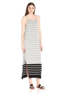 Vince Camuto Women's Short Sleeve Magnet Stripe Dress W/ Side Slits