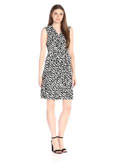 Vince Camuto Women's Short Sleeve Random Dabs Wrap Dress