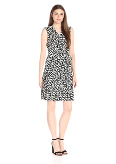 Vince Camuto Women's Short Sleeve Random Dabs Wrap Dress