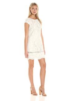 Vince Camuto Women's Short Sleeve Shift Dress