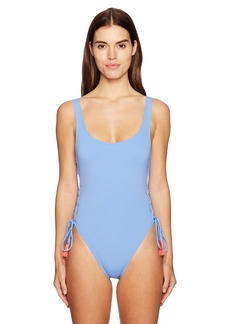 Vince Camuto Women's Side Lace U-Neck One Piece Swimsuit