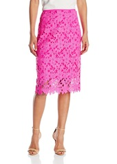 Vince Camuto Women's Side Zip Floral Embroidery Pencil Skirt