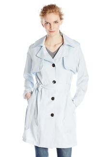 Vince Camuto Women's Single Breasted Trench Coat  edium