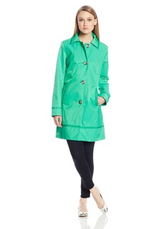 Vince Camuto Women's Single Breated Trench  X-Small