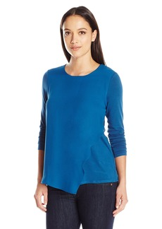 Vince Camuto Women's Size Long Sleeve Top with Asymmetrical Hem  Petite M