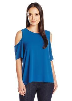 Vince Camuto Women's Size Short Sleeve Cold-Shoulder High Low  Petite M