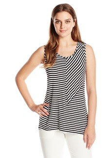 Vince Camuto Women's S/L Echo Mini Stripe Top