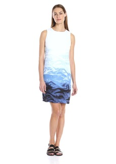 Vince Camuto Women's S/L Ombre Marble Panel Shift Dress