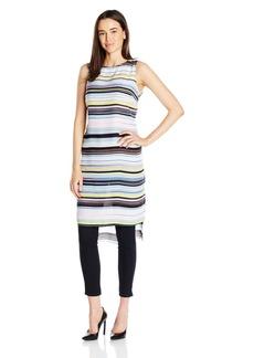 Vince Camuto Women's S/l Stripe Enlightment Long Tunic