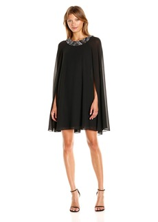 Vince Camuto Women's Sleeve Flyaway Dress with Beaded Neckband