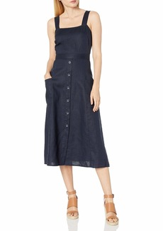 Vince Camuto Women's Sleeveless A-Line Two Pocket Dress  Extra Small
