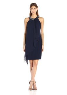 Vince Camuto Women's Sleeveless Drape Dress