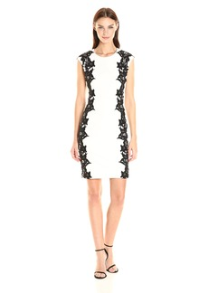 Vince Camuto Women's Sleeveless Dress With Side Lace Panels  L