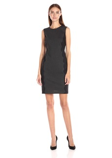 Vince Camuto Women's Sleeveless Dress With Side Panel Lace Trim