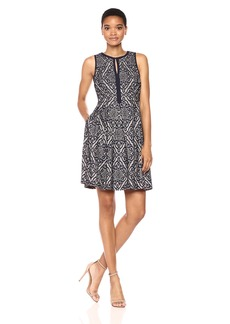 Vince Camuto Women's Sleeveless Fit and Flare Dress