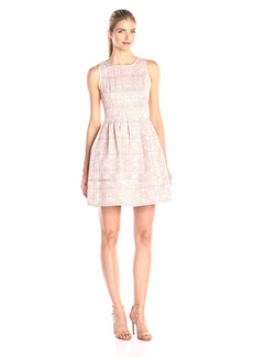 Vince Camuto Women's Sleeveless Fit and Flare Dress with Release Pleats
