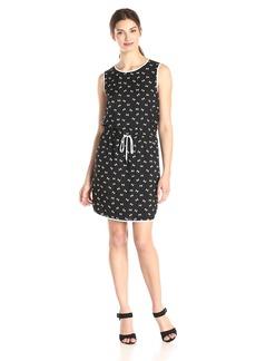 Vince Camuto Women's Sleeveless Geo Ties Tie Waist Dress