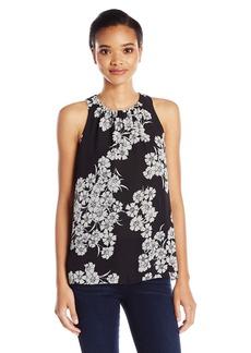 Vince Camuto Women's Sleeveless Petal Cascade Blouse  XL