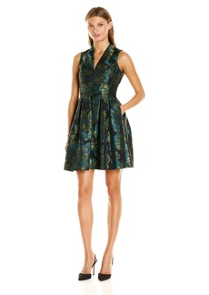 Vince Camuto Women's Sleeveless Printed Fit and Flare Dress