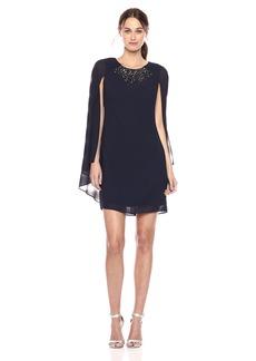 Vince Camuto Women's Sleeveless Sheath Dress with Cape