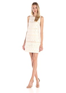 Vince Camuto Women's Sleeveless Shift with 1 Row Trim At Hem