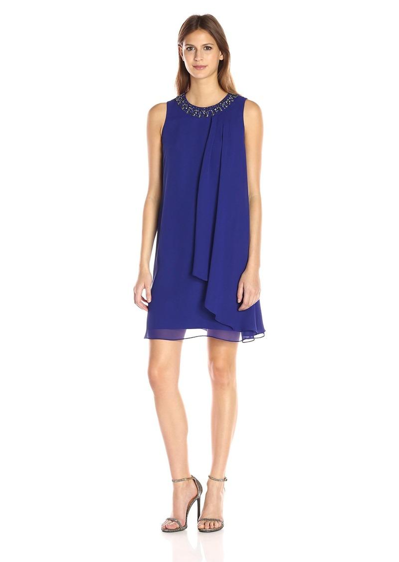 Vince Camuto Women's Sleeveless Single Side Pleated Dress