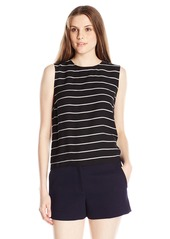 Vince Camuto Women's Sleeveless Stripe Blouse