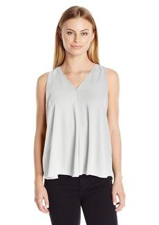 Vince Camuto Women's Size Sleeveless V-Neck Drape Front Blouse  Petite S